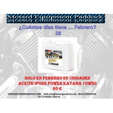 Aceite Ipone Full Power Katana 10W50 4 Litros